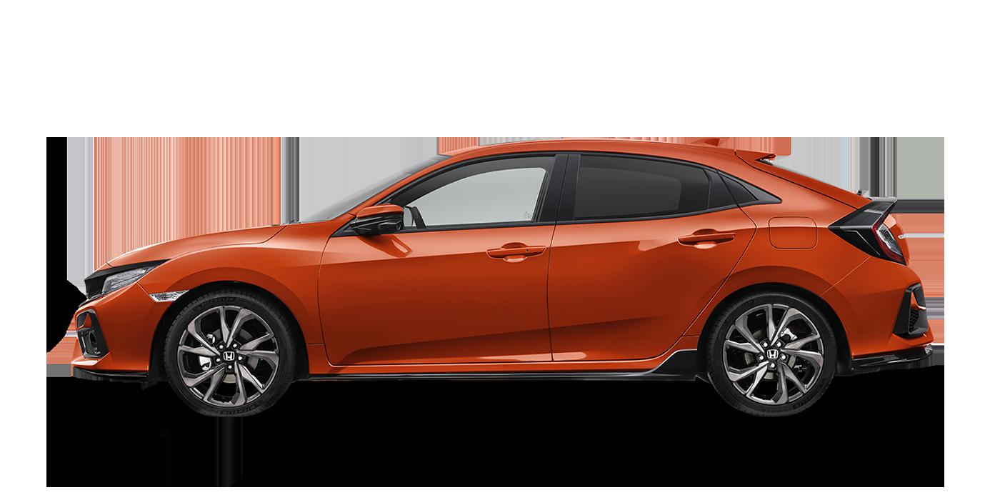 Civic Hatch in Phoenix Orange (Pearlescent)